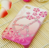 Special promotions of Korea iphone44s2012 art rhinestone decals cellphone shell cases shell protective sleeve