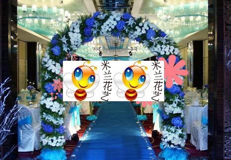 婚庆鲜花路引花门婚庆鲜花场地布置批发拱门结婚婚礼鲜花布置