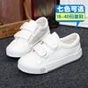 蜡比小星儿童帆布鞋男童女童鞋子白色板鞋低帮纯色单鞋白球鞋