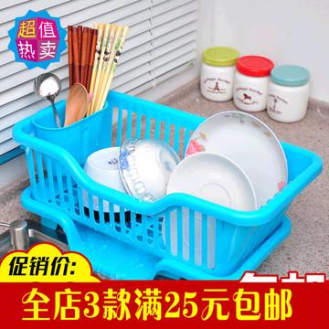 家居厨房塑料沥水架新碗盆滴水号加大碗架v厨房欧规两圆插图片