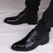 春秋英伦尖头皮鞋男士真皮正装商务皮鞋男内增高男鞋子潮