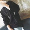 夏季宽松7七分袖t恤男短袖bf风半袖卫衣青少年学生潮流上衣服