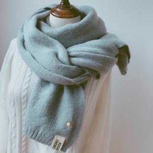 菠萝围巾女秋冬季软妹学生百搭针织ins可爱少女毛线冬天围脖