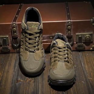 登山鞋软底户外鞋实心底防滑徒步鞋轻便旅游鞋防水钓鱼秋冬季男鞋