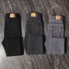 黑色牛仔裤女高腰紧身秋冬网红弹力九分灰色加绒加厚小脚铅笔长裤