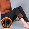 中年女裤秋冬季加绒加厚妈妈裤子女中老年人直筒高腰大码长裤