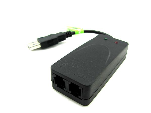 沃德讯56K USB modem传真猫WIN7Win8 调制解调器双口