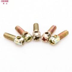 镀彩镀镍铅封螺丝 电表螺丝 封表螺钉带孔打孔十字螺栓M3 M4 M5M6