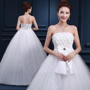 惊爆大码韩式蕾丝显瘦时尚孕妇新娘抹胸礼服婚纱