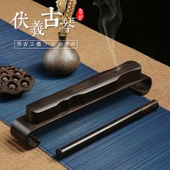 黑檀木质室内卧香炉 线香盒 熏香炉 古琴红木家用禅意沉香檀香炉
