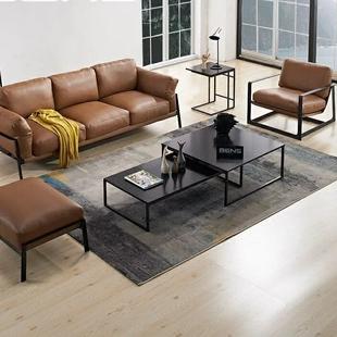 北欧实木客厅茶几简约现代铁艺组合小户型长方形伸缩个性创意茶桌