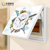 电表箱装饰画可推拉遮挡配电箱挂画现代简约客厅电盒子钟表简欧