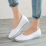 护士鞋工作鞋小白鞋坡跟女老北京布鞋单鞋舞蹈鞋单鞋春夏季美容院