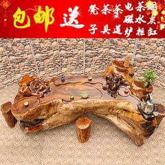 根雕茶几鸡翅木根雕茶桌整体茶台功夫茶几实木树根茶几茶海