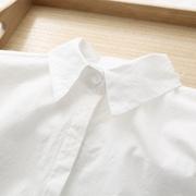 2018早春款小清晰文艺纯色白衬衫女学生职业百搭打底衬衣