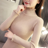 秋冬女装针织衫上衣内搭紧身打底衫长袖加厚半高领毛衣女短款