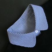 衬衣领马甲式假领子男女款通用春秋季加厚纯棉蓝白色条纹假领