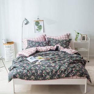 两小无猜 纯棉植物花卉床单款小清新简约碎花四件套 时尚气息