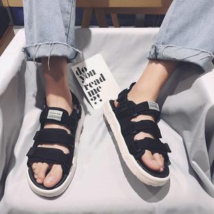 夏季凉鞋男士2019凉拖鞋潮流个性情侣百搭运动沙滩鞋