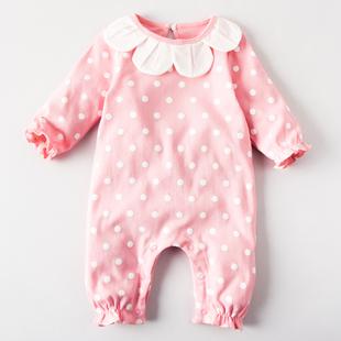 女婴儿连体衣服春装满月宝宝5新生儿0岁3个月1春秋夏季2网红套装6