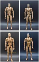 21世纪16兵人素体超可动模型人偶亚洲人头雕画画临摹专用