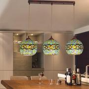 波西米亚楼梯阳台餐厅灯个性吧台走廊土耳其灯具创意饭厅玻璃吊灯