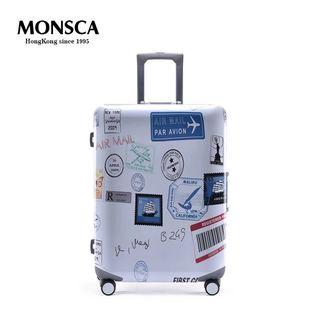 行李箱MONSCA摩斯卡PC铝框万向轮拉杆箱20寸登机箱24寸28寸旅行箱