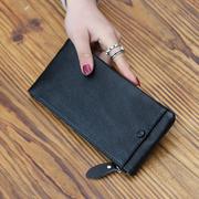 长款钱包女2018欧美时尚潮手机包简约大方女式钱夹超薄皮夹子