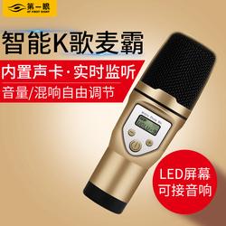M5手机唱吧全名K歌麦克风话筒电容麦内置监听声卡混响调节 通电脑