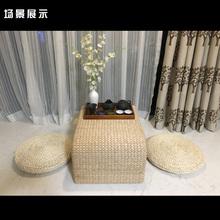 两件蒲团田园玉米皮草编榻米加厚飘窗坐垫打坐拜佛垫子瑜伽垫