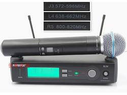 工程SLX24BETA58A SM58无线手持话筒SLX14WH30 WL93无线麦克风咪