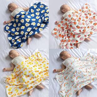 宝宝小毯子新生儿产房包巾裹布ins防惊跳襁褓包被婴儿抱被盖巾