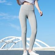 大码运动打底裤女裤外穿薄款2018铅笔九分小脚高腰显瘦黑色裤