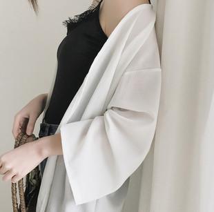 防晒衣女开衫夏季中长款雪纺衫薄款气质宽松裙子外搭chic外套