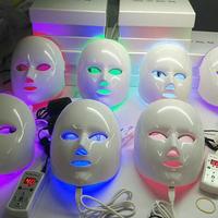 LED面罩彩光面膜家用脸部 红蓝光祛痘印排毒美容院仪器光子嫩肤仪