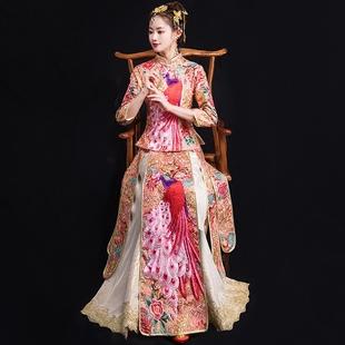 秀禾服新娘2018龙凤褂结婚中式礼服女古装旗袍敬酒服秀和服冬