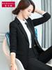 黑色小西装外套女 2018早秋短款气质简约职业装女款
