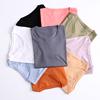 70支丝光棉 圆领短袖T恤女夏 纯棉双面丝光 纯色百搭打底衫