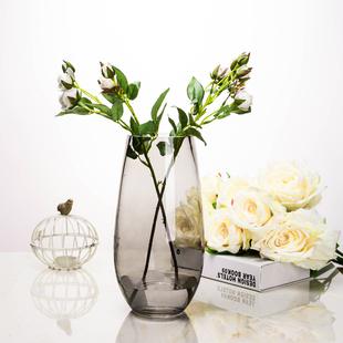 欧式时尚插花恐龙蛋造型花器 简约彩色玻璃花瓶 客厅装饰品摆件