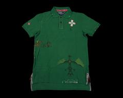 RL 早期 復古 印第安 狩獵 圖騰 刺繡 刺子 翻領 T恤 絕版 孤品