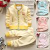 婴儿春秋冬套装 3-6个月宝宝衣服加绒0-1-2岁男女童保暖衣两件套