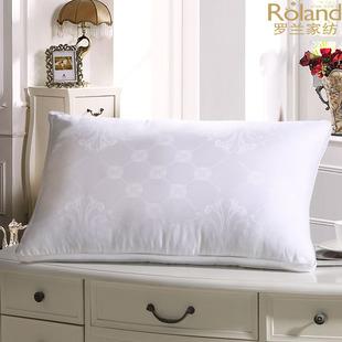 罗兰家纺轻奢侈纯棉蚕丝枕芯 学生白领颈椎舒适枕头 美容透气单人