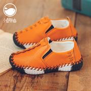 男女童小皮鞋2018春秋男童豆豆鞋女童单鞋软底儿童鞋
