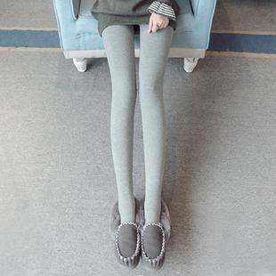 秋冬季加绒打底裤女外穿加厚显瘦保暖棉裤百搭灰色踩脚连裤袜