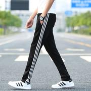 春夏季男款针织薄款运动裤男长裤学生宽松直筒卫裤大码男士裤
