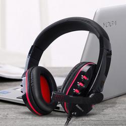 台式机通用语音耳麦头戴式重低音游戏有线笔记本吃鸡电脑耳机带麦