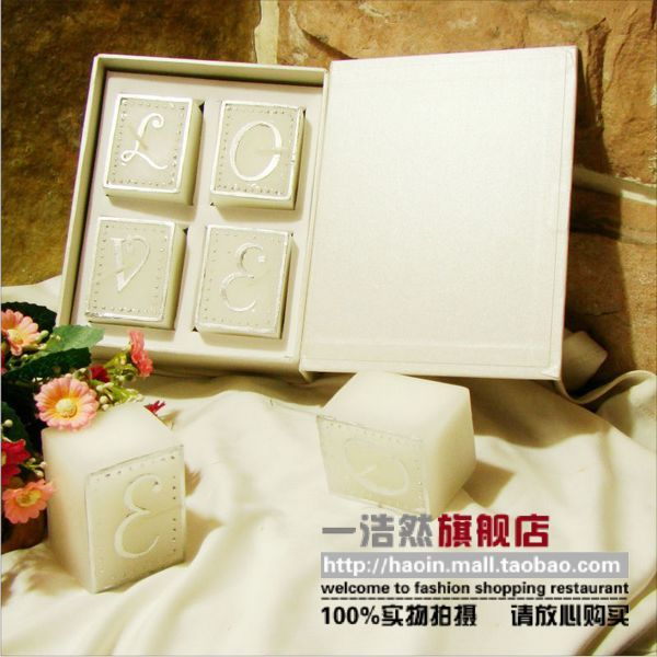 Haoin LOVE book candle wedding candle and romantic Valentine's day candle creative novel practical wedding gifts