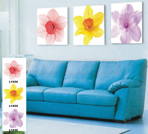 Valuearl Painted dragon crystal / striae frameless painting living room bedroom home decorative painting mural panels painted fresh flowers L1028