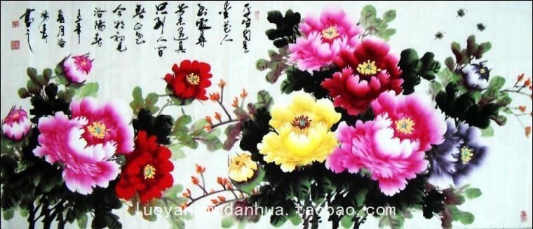 洛阳天香阁的牡丹画
